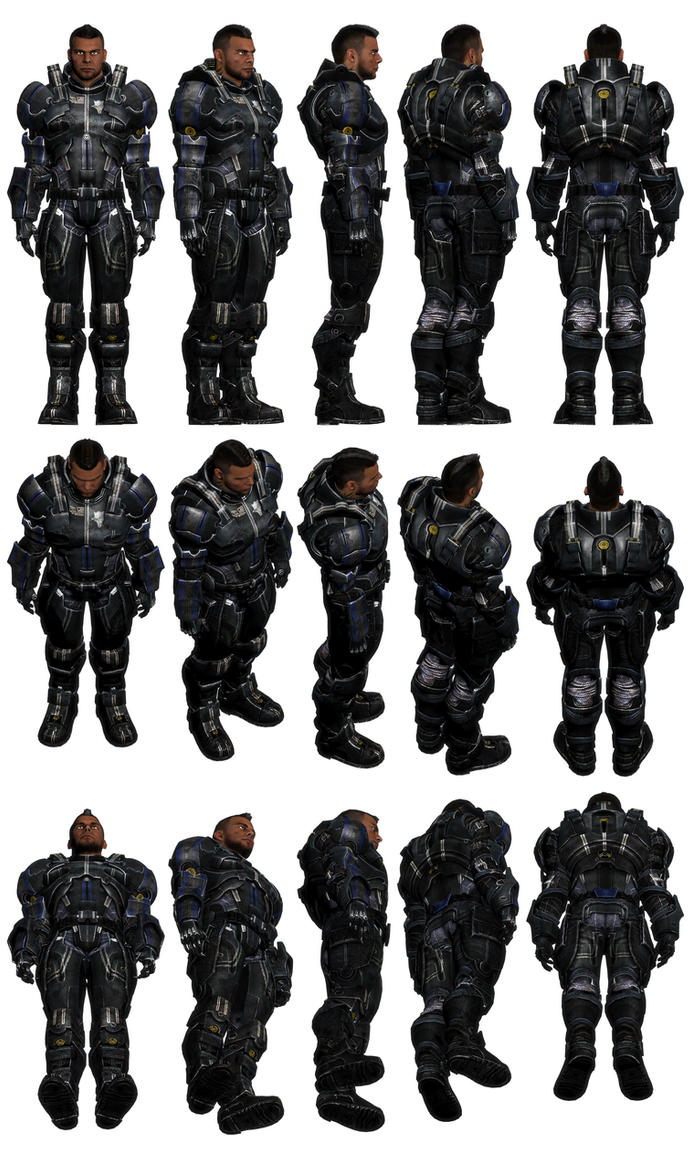 Mass Effect 3, Vega - Default Armour Ref. by Troodon80