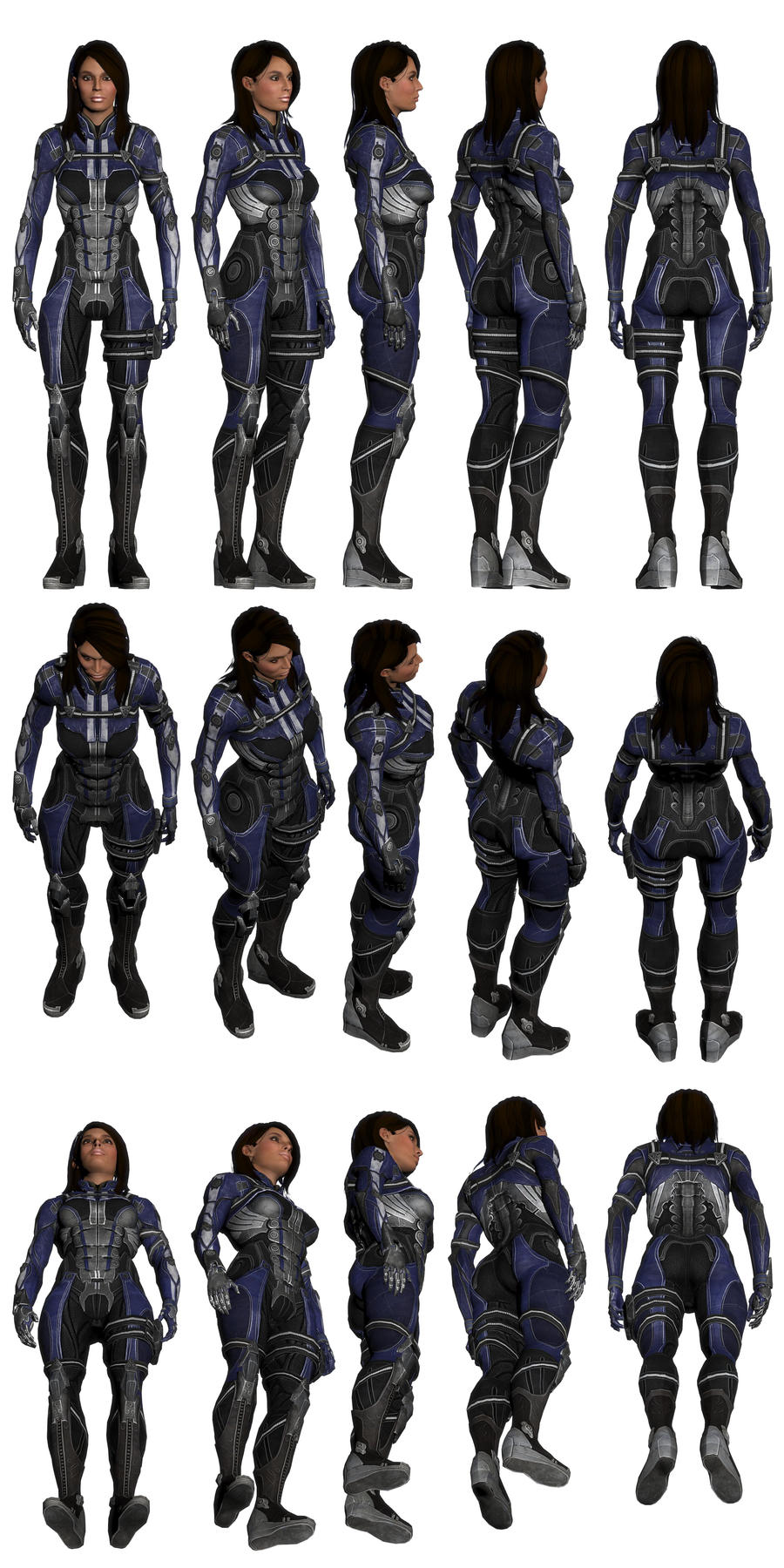 Mass Effect 3, Ashley Williams - Armoured - Ref. by Troodon80