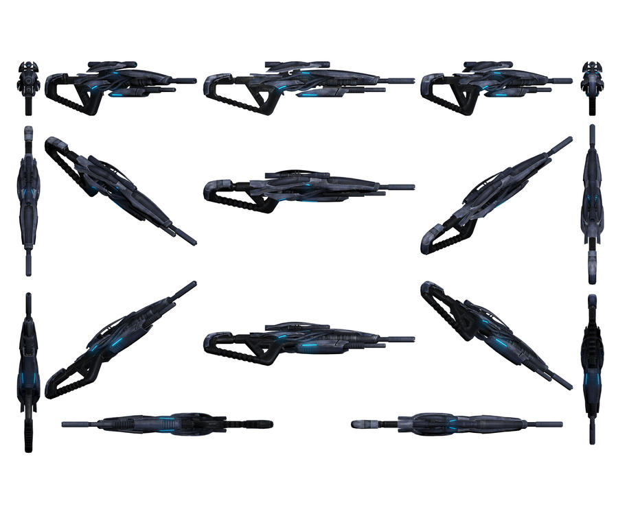 Mass Effect 3, Javelin Sniper Rifle Reference by Troodon80