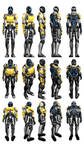 Mass Effect 3, Female Sentinel Armour Reference.