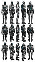 Mass Effect 3, Female Adept Armour Reference.