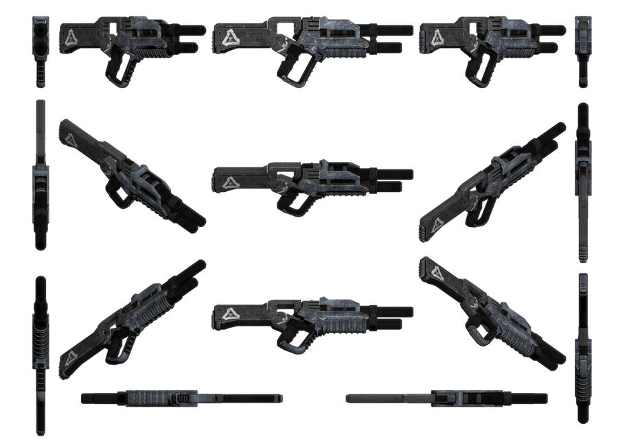 Mass Effect 3, MP Striker Assault Rifle Ref. by Troodon80