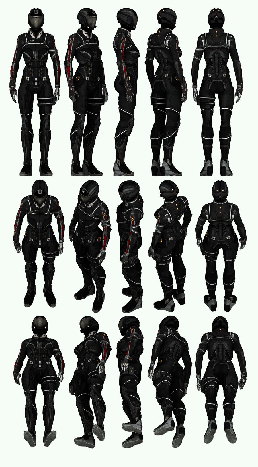 Mass Effect 3, MP N7 Shadow Infiltrator Ref. by Troodon80