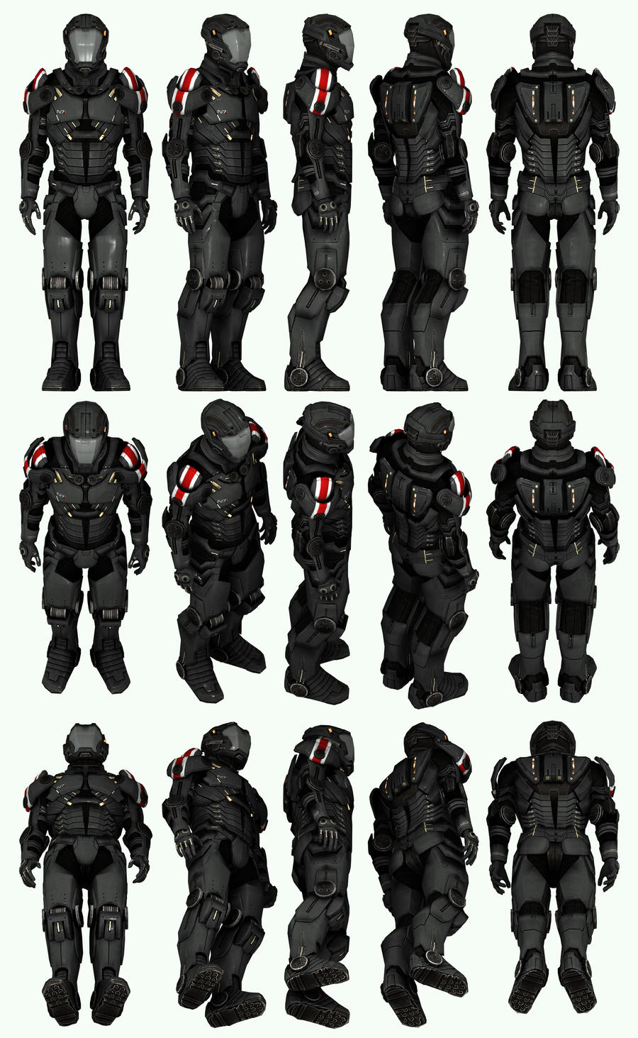 Mass Effect 3, MP N7 Paladin Sentinel Ref. by Troodon80