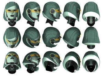 Mass Effect 3, EDI Head Reference. by Troodon80