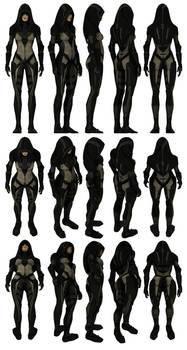 Mass Effect 2, Kasumi Model Reference.