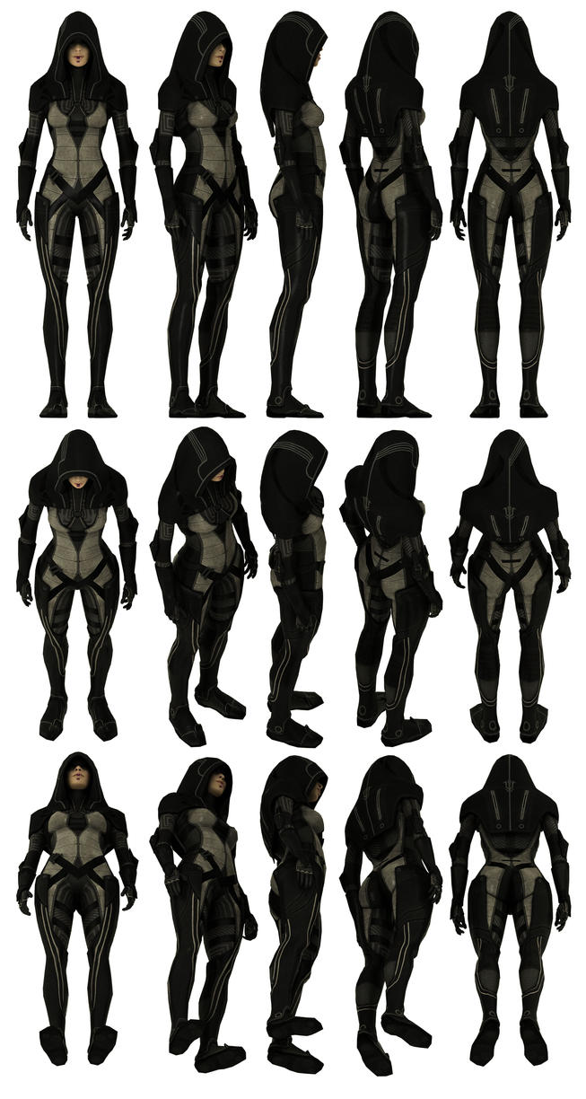 Mass Effect 2, Kasumi Model Reference. by Troodon80