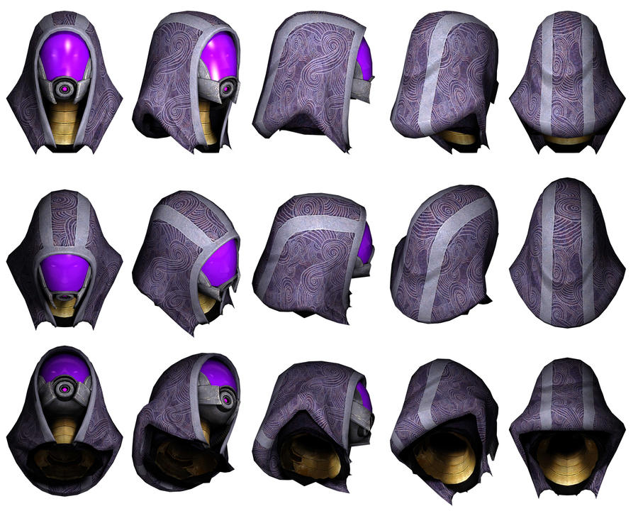 Mass Effect 3, Tali Head Reference. by Troodon80