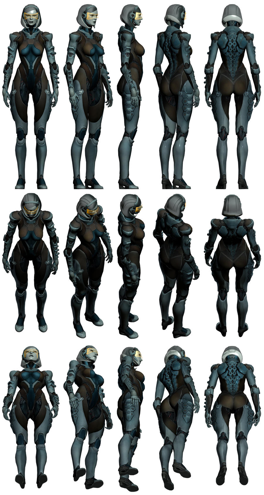Mass Effect 3, EDI AA Pack 1 Reference by Troodon80
