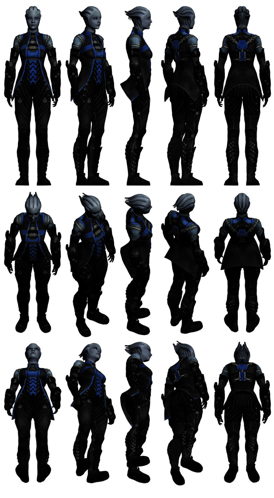 Mass Effect 3, Liara AA Pack 1 Reference. by Troodon80