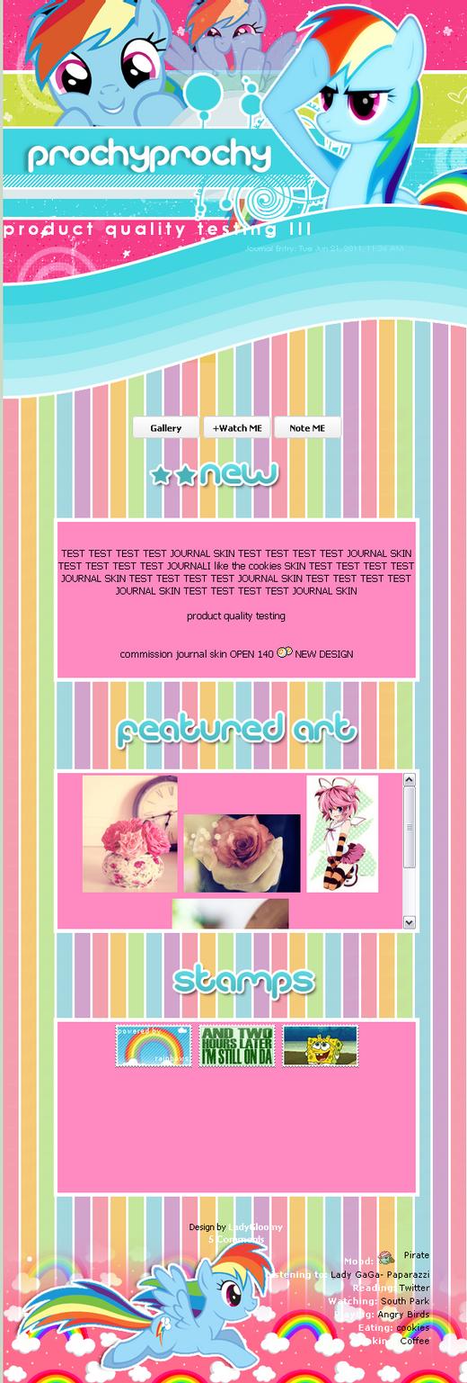 rainbow Dash skin by LadyGloomy