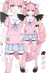 [OPEN] Set price Adopt - Pastel-Goth Neko by Kris-i