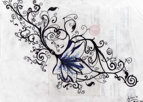 lilien tattoo by antonia asylum queen on deviantart. Black Bedroom Furniture Sets. Home Design Ideas