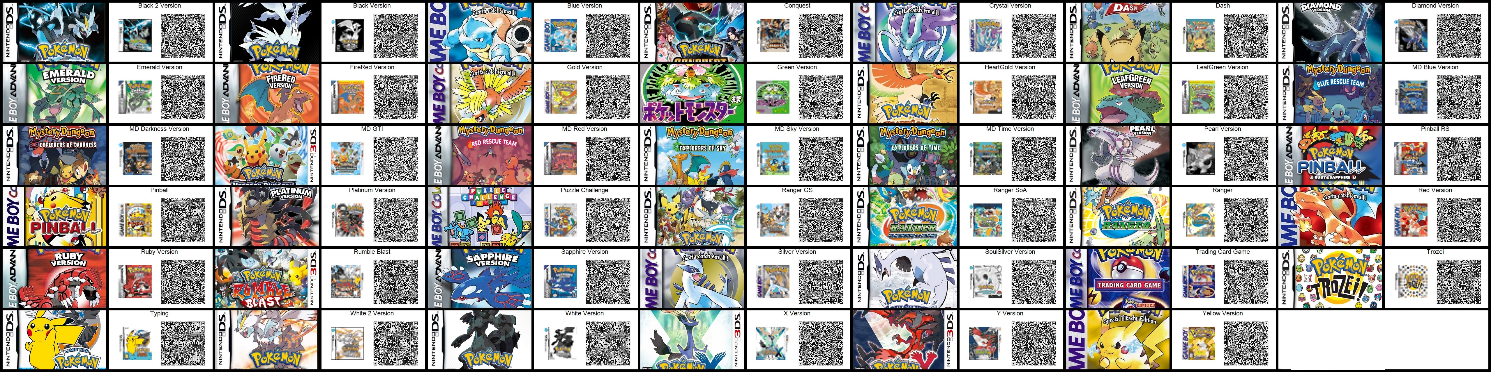 Pokemon Games Pattern QRcodes for ACNL by toxicsquall on DeviantArt