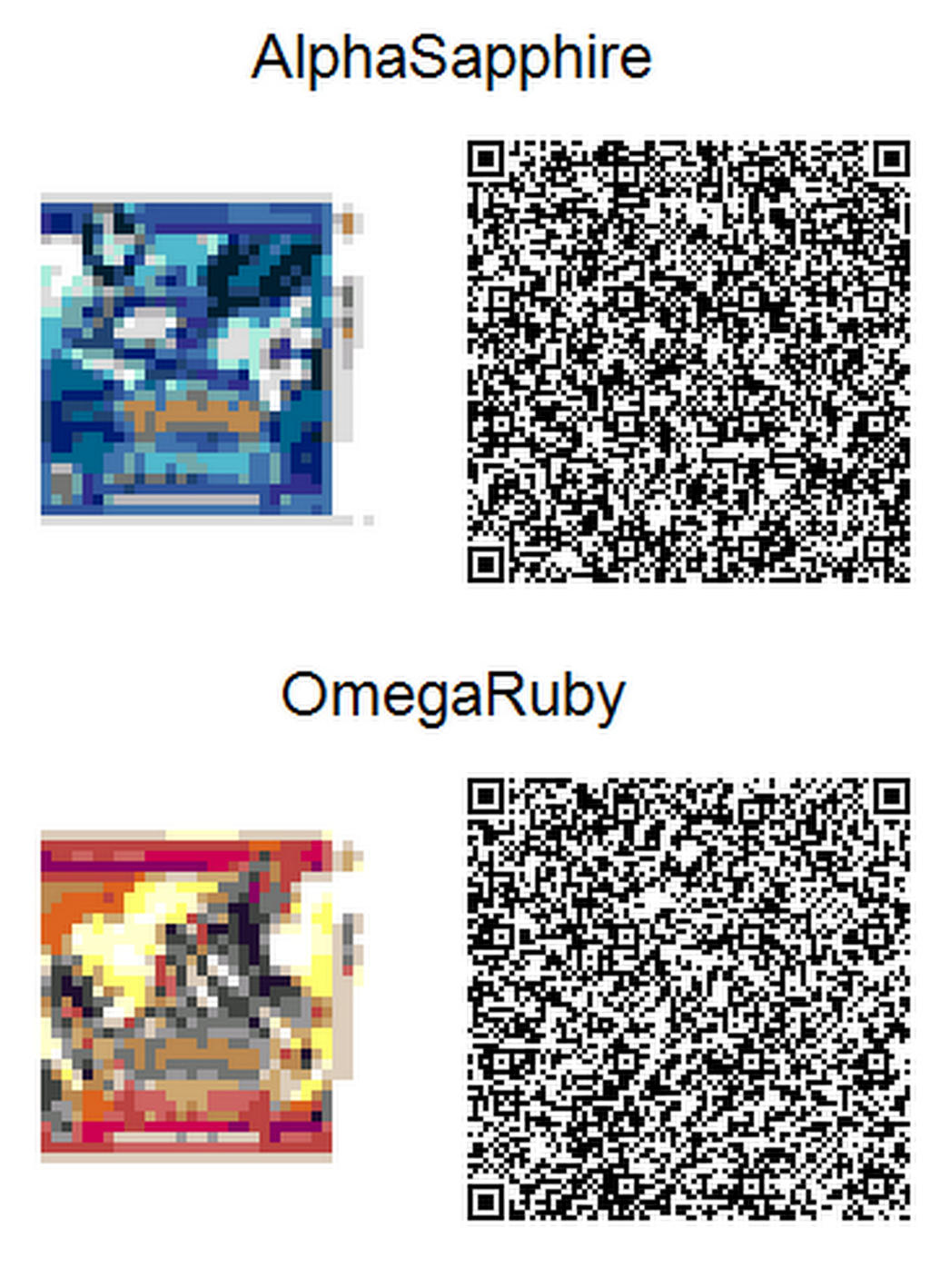 Pokemon Omegaruby Alphasapphire Acnl Qr Codes By Toxicsquall On Deviantart