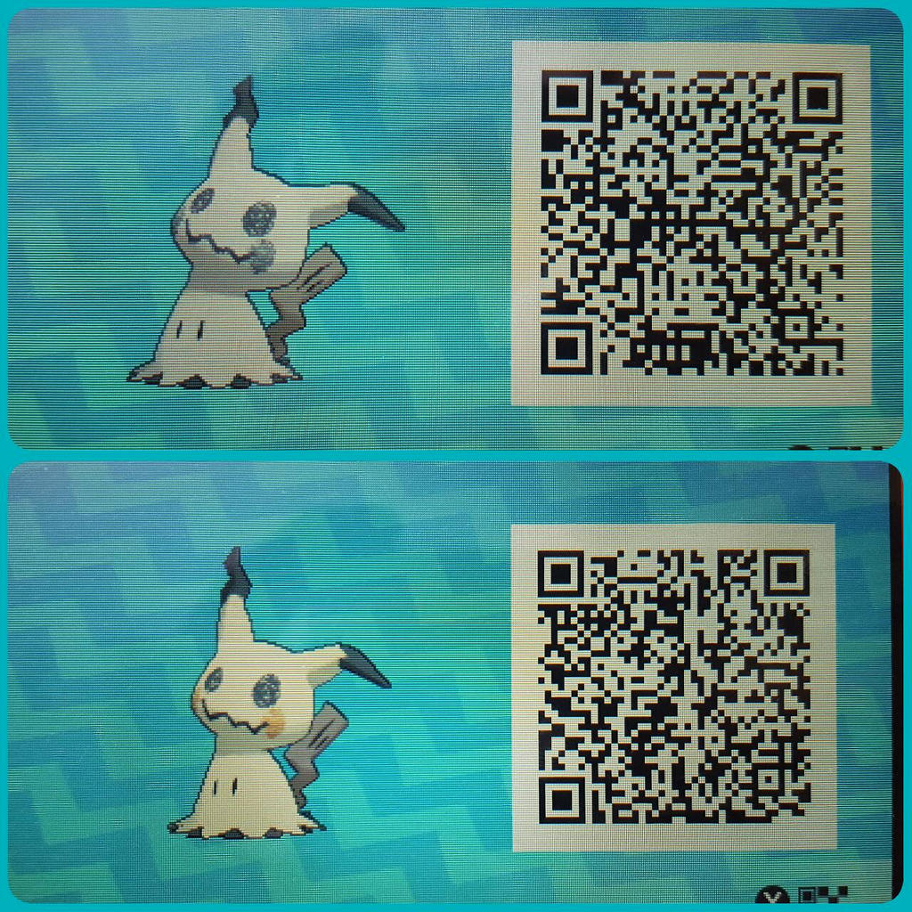 Mimikyu Normal And Shiny Qr Code By Toxicsquall On Deviantart
