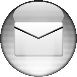 Silver Aqua Mail Icon