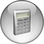 Silver Aqua Calculator Icon