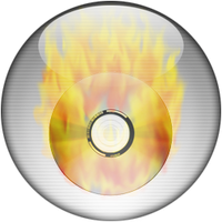 Silver Aqua CD-Burning Icon by rontz