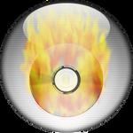 Silver Aqua CD-Burning Icon