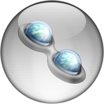 Silver Aqua Trillian Icon