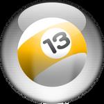 Silver Aqua Billard Icon