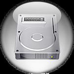 Silver Aqua My Computer Icon