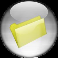 Silver Aqua Empty Folder Icon by rontz