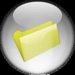Silver Aqua Empty Folder Icon
