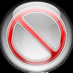 Silver Aqua Quit Dock Icon