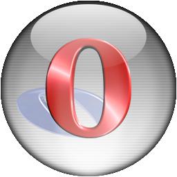 Silver Aqua Opera Browser Icon
