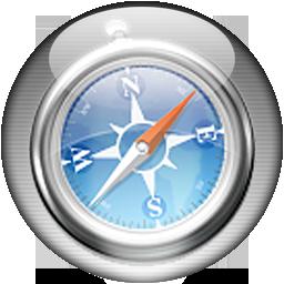 Silver Aqua Safari Icon
