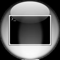 Silver Aqua Terminal Icon by rontz
