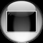 Silver Aqua Terminal Icon