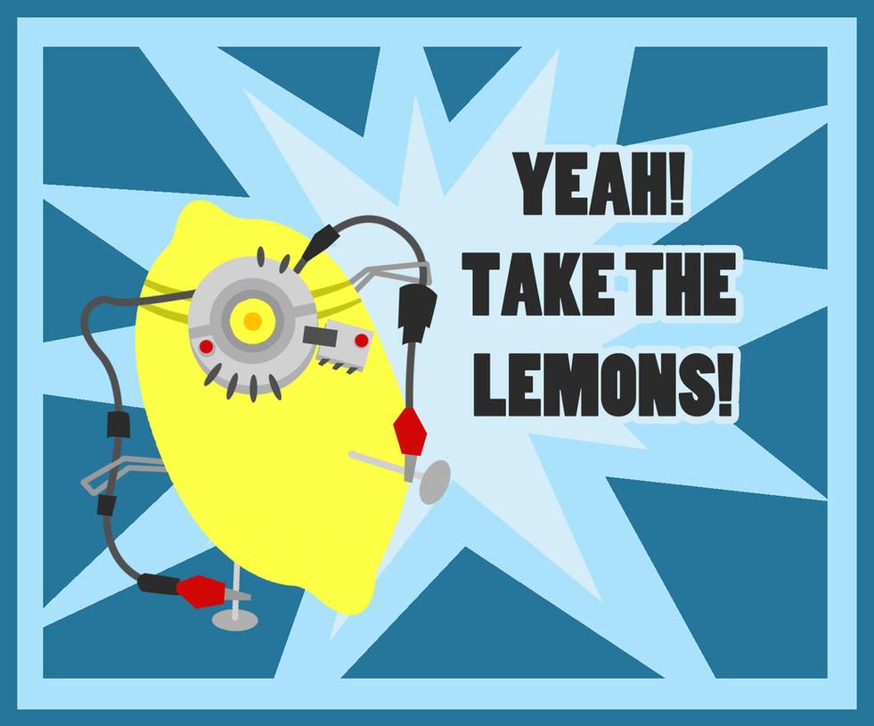 Yeah, Take The Lemons. by ApertureEyes