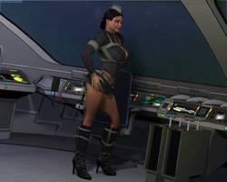Clara - Space Pilot by Komblkaurn