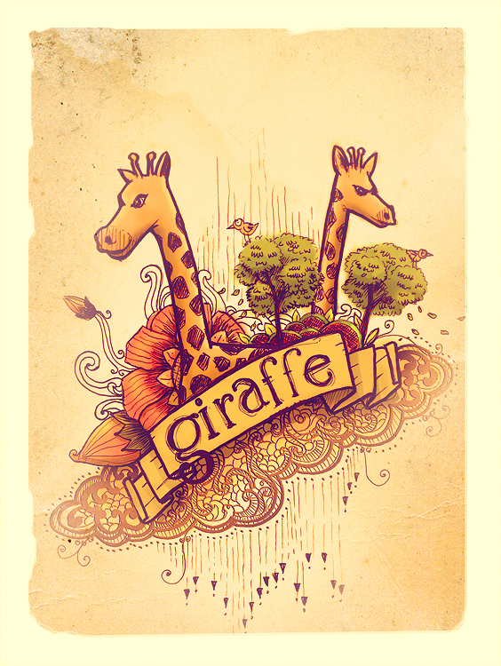 twin giraffe by thomasdian