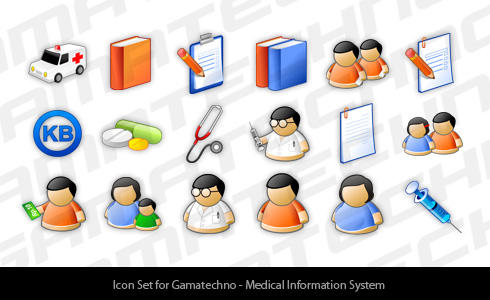medical icon set by thomasdian