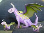 Dragon paper toy by BlackPeaVelvet