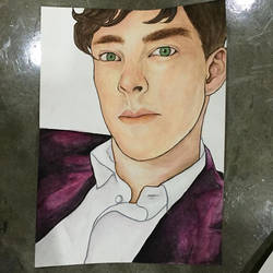 Benedict Cumberbatch by bluehippopo