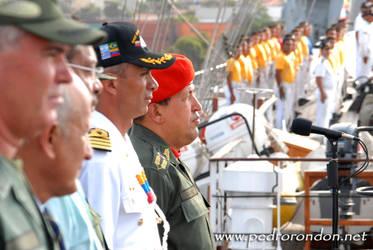 Hugo Chavez en el B.E.S.B. 1 by pedrorondon