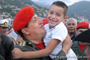 Hugo Chavez en el B.E.S.B. 4 by pedrorondon