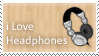 Stamp I love Headphones by Mellx93