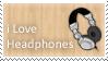 Stamp I love Headphones