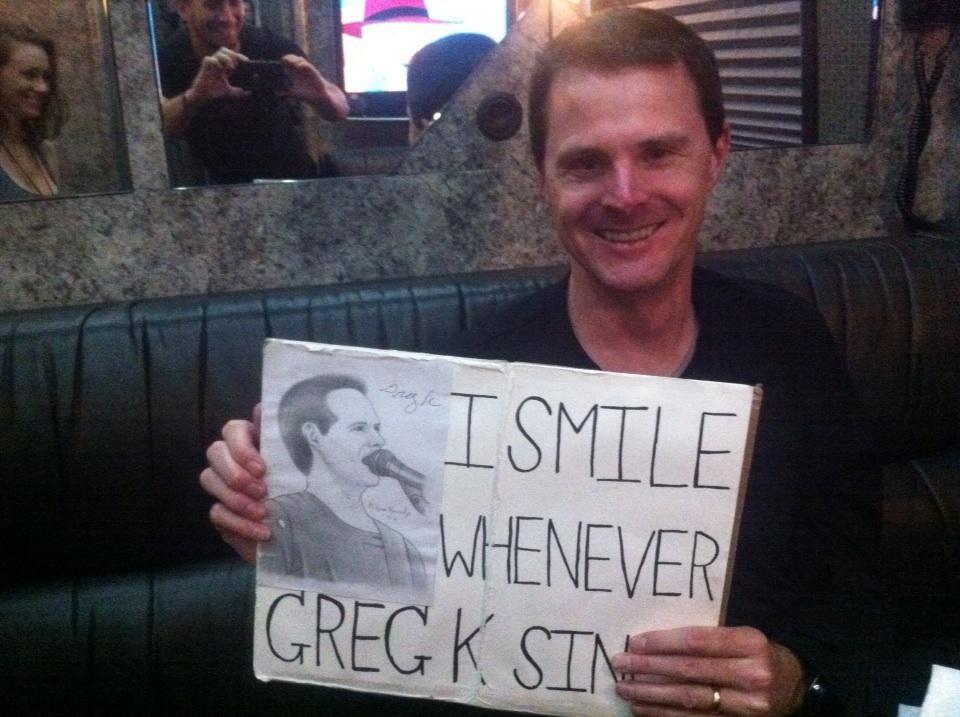 Greg K finally autographed my drawing of him. by MelyssaThePunkRocker
