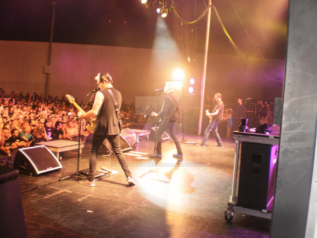 Offspring: view from the safety of the side stage. by MelyssaThePunkRocker