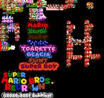 Super Mario Bros. Redrawn Sprite Dump