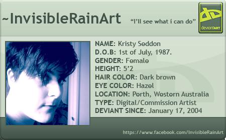 InvisibleRainArt's Profile Picture