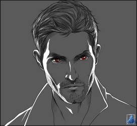 Derek Hale SKETCH by InvisibleRainArt