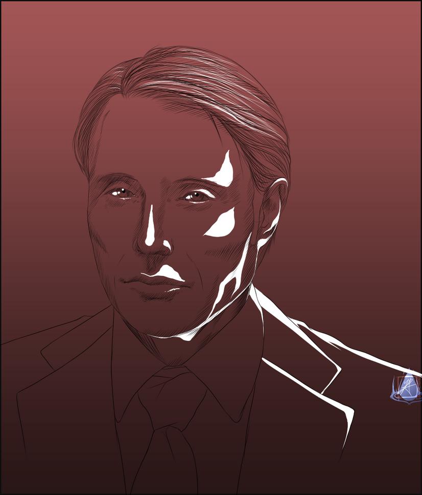 Hannibal Sketch by InvisibleRainArt